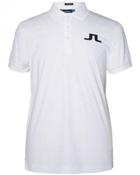 J.Lindeberg Big Bridge Reg Tx Jersey Polo Shirt - White