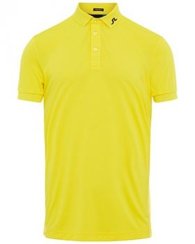 J.Lindeberg KV REG FIT POLO SHIRT - Banging Yellow