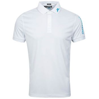 J.Lindeberg Tour Tech Reg Fit Golf Polo - White/Fancy Melange - FW21