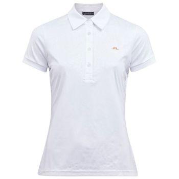 J.Lindeberg Women's Rita Golf Polo - White/Croco - FW21