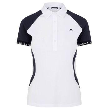 J.Lindeberg Women's Behati Golf Polo - White - FW21