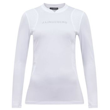 J.Lindeberg Women's Zowie Compression Top - White - FW21