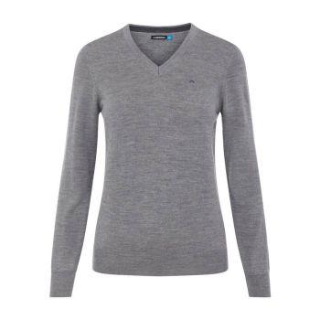 J. Lindeberg Amaya True Merino Golf Sweater - Grey Melange