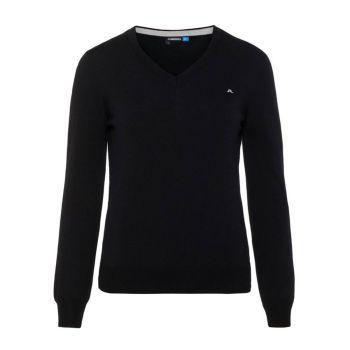 J. Lindeberg Amaya True Merino Golf Sweater - Black - FW21