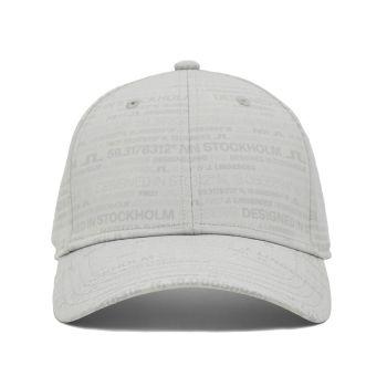 J.Lindeberg HQ Print Golf Cap - HQ Grey - FW21