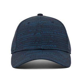 J.Lindeberg HQ Print Golf Cap - HQ Blue - FW21
