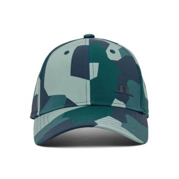 J.Lindeberg Men's Camou Print Golf Cap - Treeline Green Camo - FW21