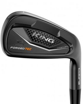 Cobra King Forged Tec Black Irons with 4-GW Steel Stiff Flex Shaft