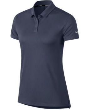 Nike Women's Dri-Fit Polo Shirt - Thunder Blue/Flat Silver