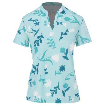 Nike Women's Breathe Floral Print Polo Shirt - Light Dew/Wind