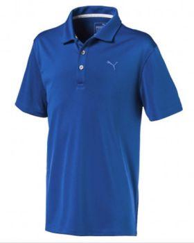 Puma Juniors Essential Pounce Golf Polo - Lapis Blue