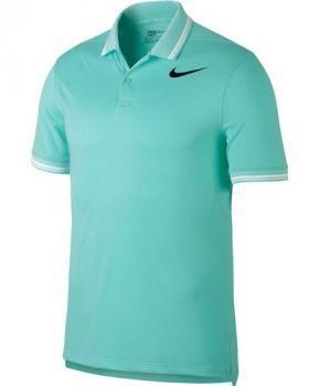 Nike Dry Tipped Golf Polo - Light Aqua