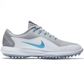 Nike Lunar Control Vapor 2 Golf Shoes - Grey/White/Blue Fury