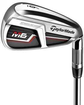 Taylormade M6 Iron Set 4-PW with Fujikura Atmos Orange Stiff Flex Graphite Shaft
