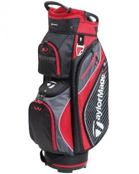 TaylorMade Pro Cart 6.0 Bag - Black/ Charcoal/ Red