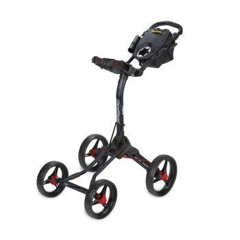 BagBoy Quad XL Push Cart - Matte Black/Red