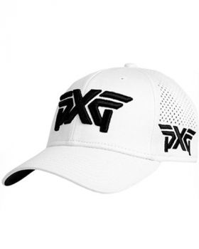 PXG Laser Mesh Shadow Tech Fitted Cap - White