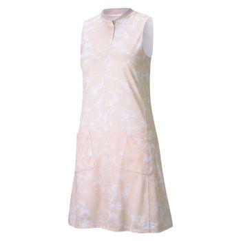 PUMA Womens' Motley Golf Dress - Pink Marble