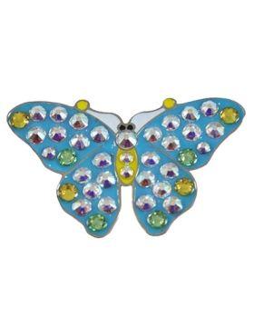 Navika Blue Butterfly Swarovski Crystal Ball Marker