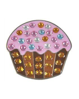 Navika Cupcake Swarovski Crystal Ball Marker