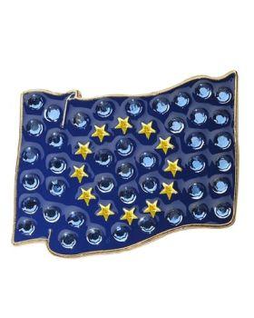Navika European Union Flag Swarovski Crystal Ball Marker