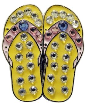 Navika Yellow Flip Flop Swarovski Crystal Ball Marker