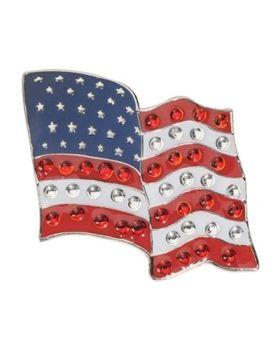 Navika Flying US Flag Swarovski Crystal Ball Marker