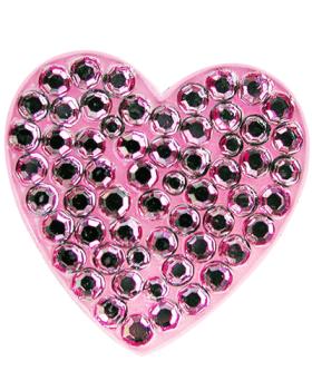 Navika Pink Heart Swarovski Crystal Ball Marker