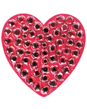 Navika Red Heart Swarovski Crystal Ball Marker