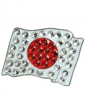 Navika Japan Flag Swarovski Crystal Ball Marker