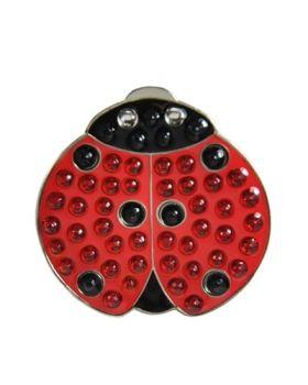 Navika Lady Luck (Ladybug) Swarovski Crystal Ball Marker