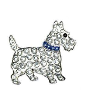 Navika Blue Scottie Dog Swarovski Crystal Ball Marker