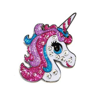 Navika Unicorn Ball Marker Adorned With Crystals From Swarovski- With Hat Clip