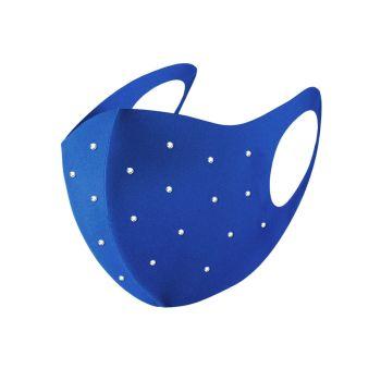 Navika Swarovski Crystals Face Mask - Blue