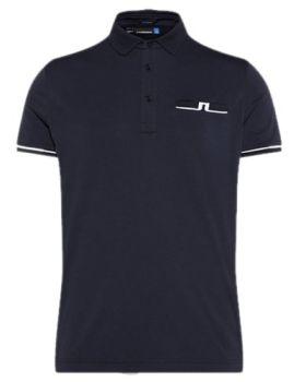J. Lindeberg Petr Reg TX Jersey Polo Shirt - Navy