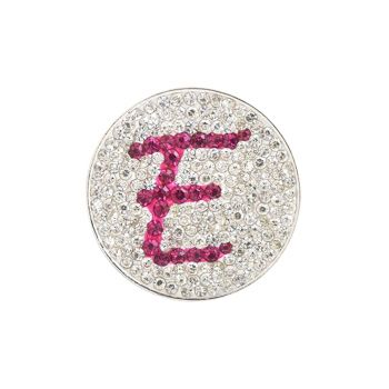Navika  Pink Initial Micro Pave Crystal Ball Marker + Clip  E