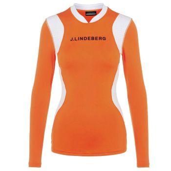 J.Lindeberg Women's Zowie Compression Top - Tiger Orange - FW21