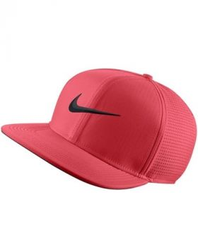 Nike Aerobill Pro Performance Golf Cap - Tropical Pink/Black