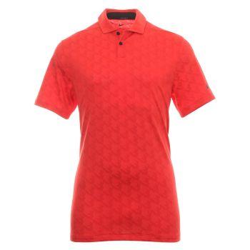 Nike Men's Dri-Fit Vapor Jacquard Golf Polo - Track Red/Black