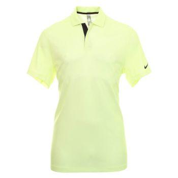Nike Men's Tiger Woods Dri-Fit ADV Traditional Golf Polo - White/Light Lemon Twist/Black