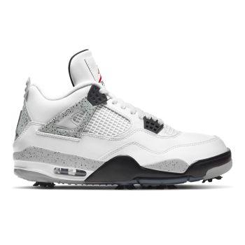 Nike Air Jordan IV G Shoes - White/Fire Red/Tech Grey/Black