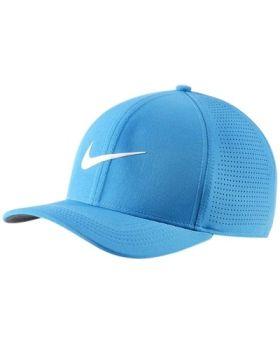Nike AeroBill Classic 99 Golf Cap - Blue/Anthracite/ Sail