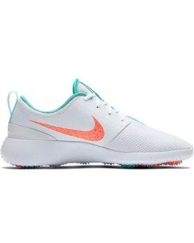 Nike Roshe G Golf Shoes - White/Hot Punch/Aurora Green