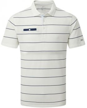 Nike Dri-FIT Player Striped Golf Polo - Sail/Blue Void/White/Brushed Silver