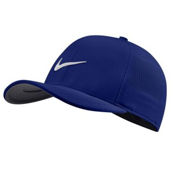 Nike Men's Aerobill CLC99 Perforated Cap - Hydrogen Blue/Anthracite/Obsidian