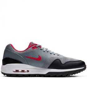 Nike Air Max 1 G Golf Shoes - Particle Grey/University Red/Black/White