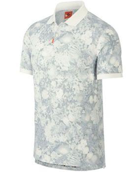 Nike Unisex Floral Polo - Off Noir/Sail