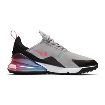 Nike Air Max 270G Golf Shoes - Atmosphere Grey/Hot Punch/White/Black