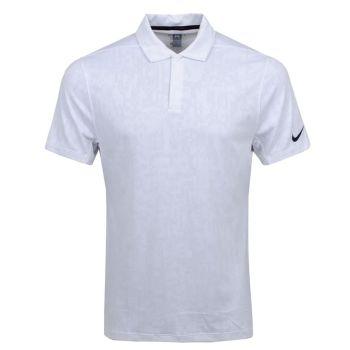 Nike Men's Tiger Woods Dri-Fit Novelty Polo - Photon Powder/White