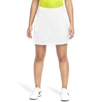"Nike Women's Dri-Fit UV Victory 17"" Golf Skirt - White/Photon Dust"